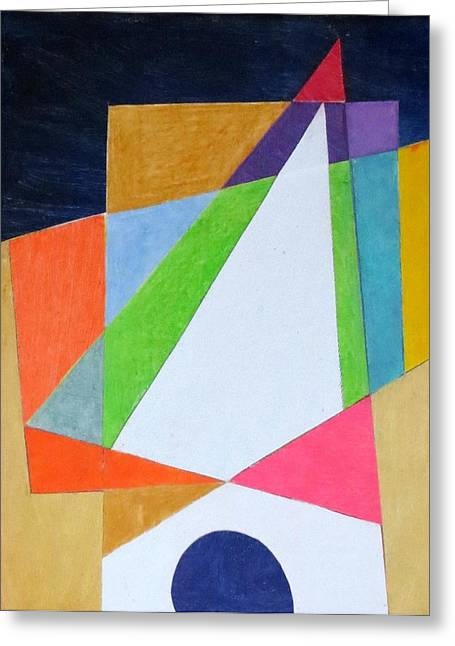 Abstract Angles Xi Greeting Card