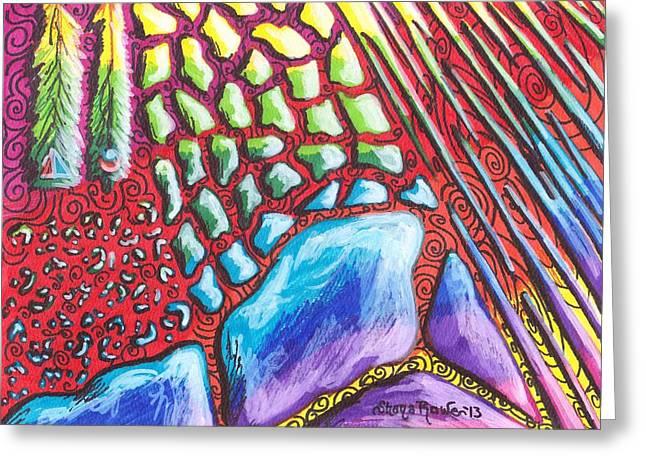 Abstract Animal Print Greeting Card by Shana Rowe Jackson