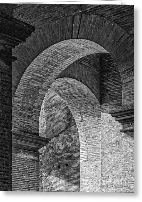 Abstract Arches Colosseum Mono Greeting Card
