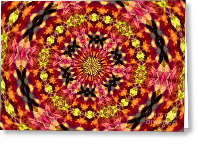 Abstract Argyle Greeting Card by Margaret Newcomb