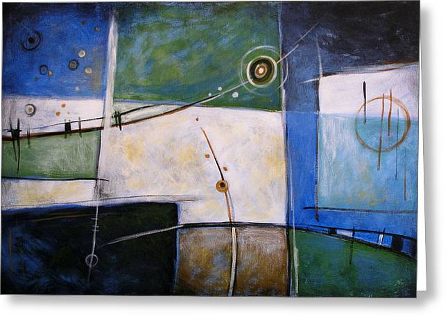Abstract Art ... Subliminal Greeting Card by Amy Giacomelli