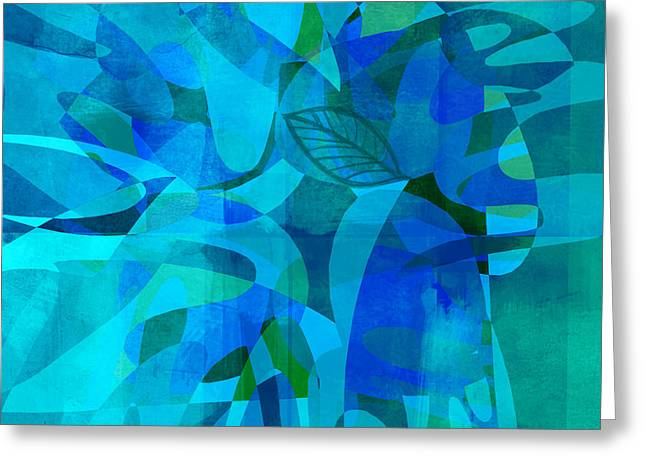 abstract - art- Blue for You Greeting Card by Ann Powell