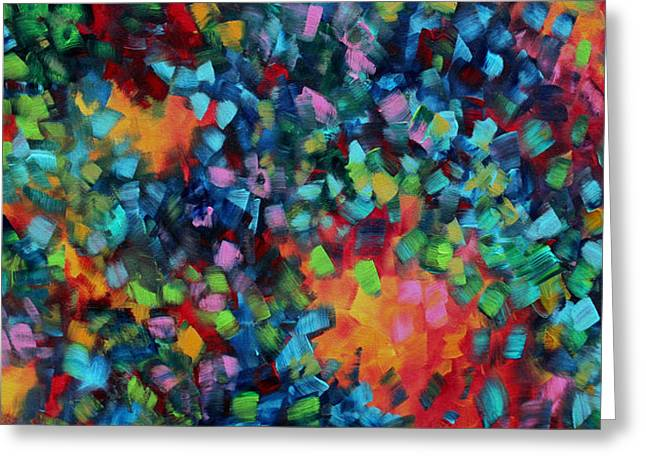 Abstract Art Bold Colorful Modern Art Original Painting Color Blast By Madart Greeting Card