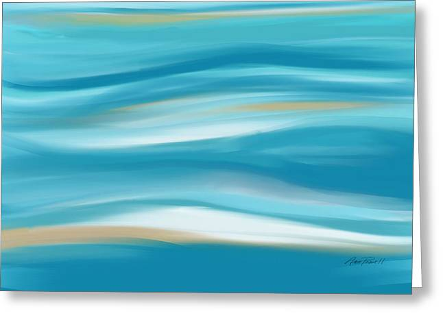 abstract - art-  Contemplation  Greeting Card by Ann Powell