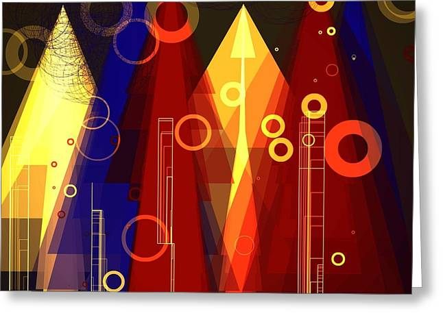 Abstract Art Deco Greeting Card
