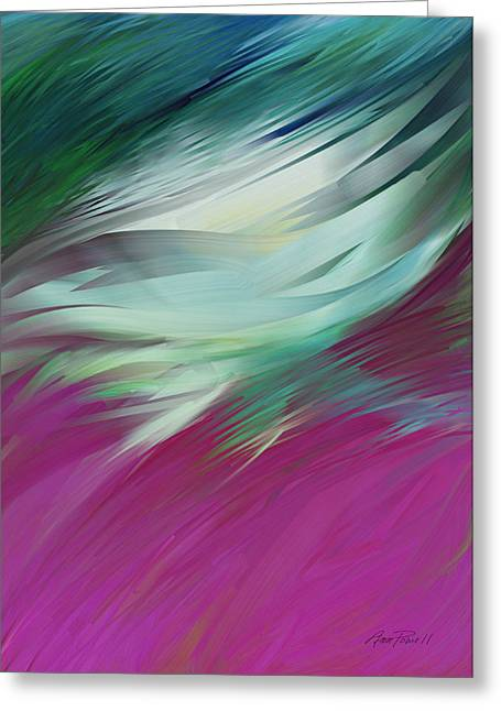 abstract art Flight of Imagination Greeting Card by Ann Powell