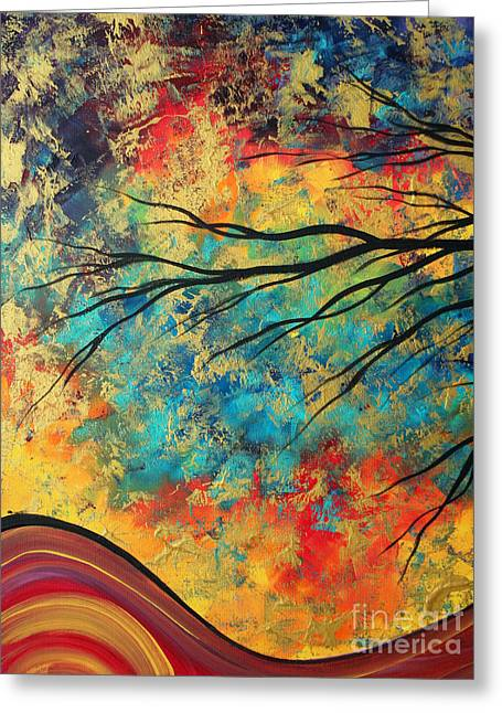 Abstract Art Original Landscape Painting Go Forth I By Madart Studios Greeting Card by Megan Duncanson