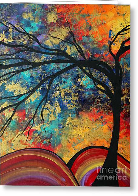 Abstract Art Original Landscape Painting Go Forth II By Madart Studios Greeting Card by Megan Duncanson