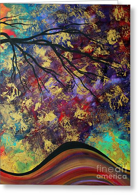 Abstract Art Original Landscape Painting Go Forth IIi By Madart Studios Greeting Card by Megan Duncanson