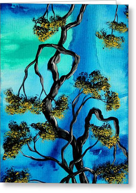 Abstract Art Original Landscape Painting Life Is A Maze By Madart Greeting Card by Megan Duncanson