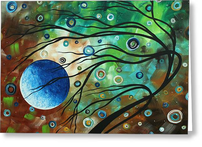 Abstract Art Original Landscape Painting Mint Julep By Madart Greeting Card by Megan Duncanson