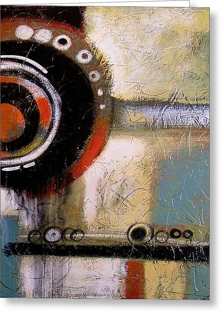 Abstract Art Print ... The World Goes Round 2 Greeting Card by Amy Giacomelli