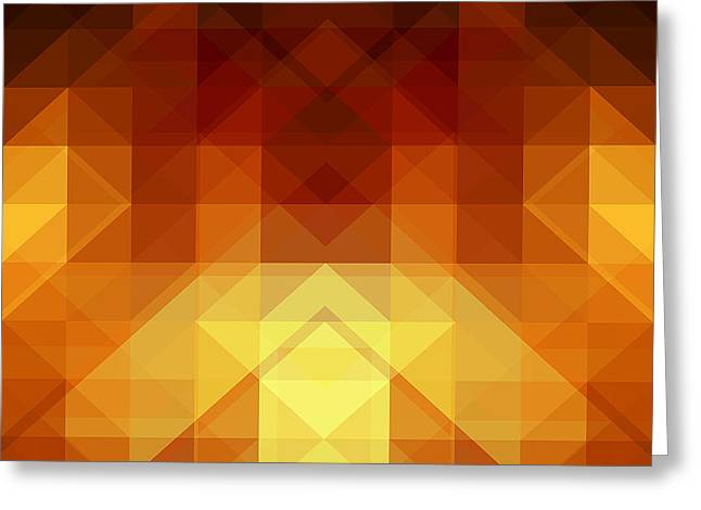 Abstract Background From Triangle Shapes Greeting Card