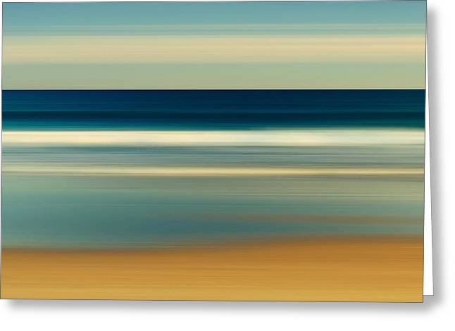Abstract Beach Day Greeting Card