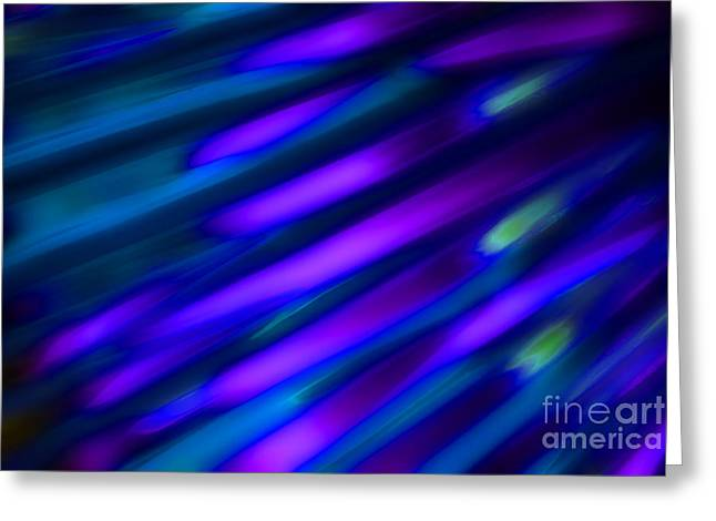 Abstract Blue Green Pink Diagonal Greeting Card by Marvin Spates