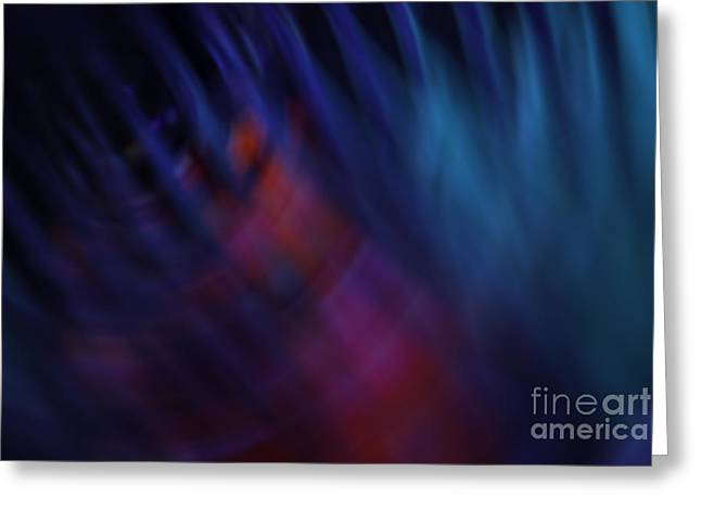 Abstract Blue Red Green Diagonal Blur Greeting Card by Marvin Spates