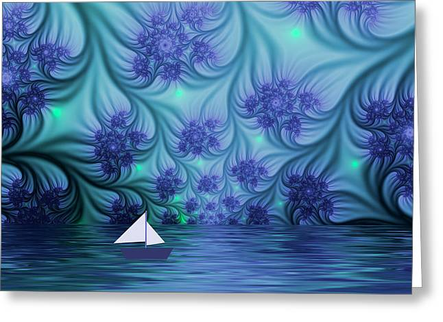 Abstract Blue World Greeting Card