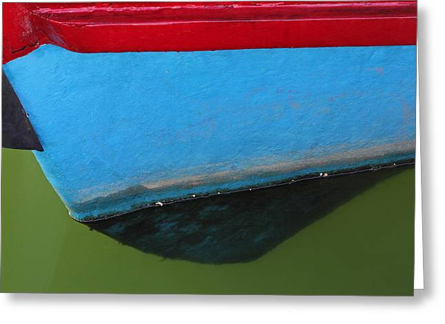 Abstract Boat Bow Greeting Card by Juergen Roth