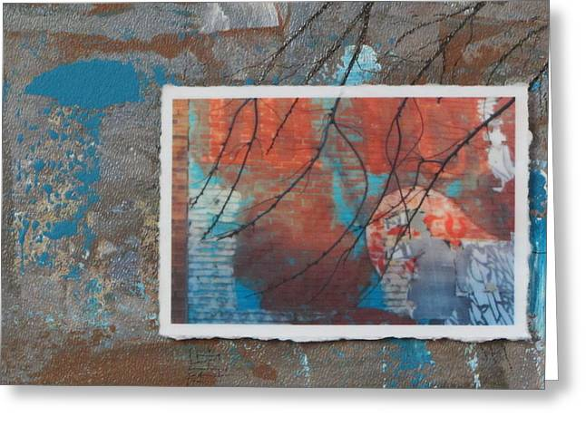 Abstract Branch Collage Greeting Card by Anita Burgermeister