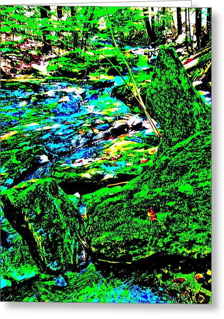 Abstract Brook Bits 56 Greeting Card