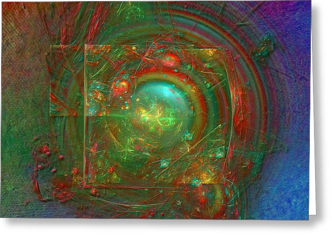 Greeting Card featuring the digital art Abstract Bubble by Alexa Szlavics