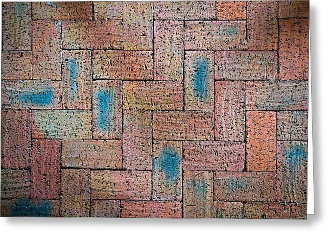 Abstract Burnt Bricks Greeting Card