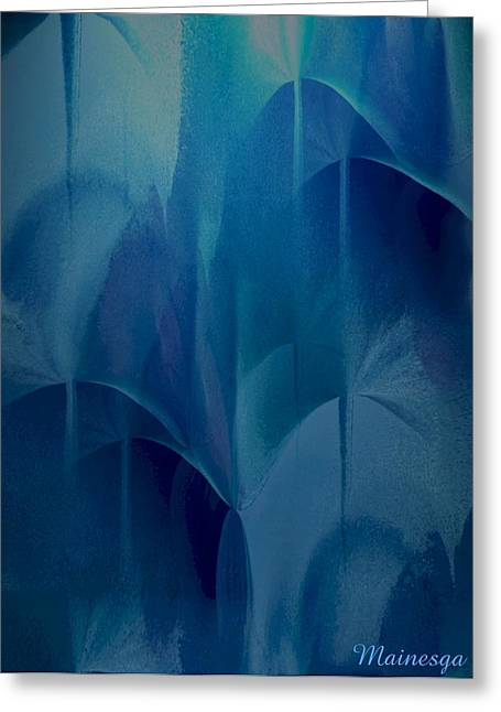 Abstract C-u-r Greeting Card by Ines Garay-Colomba
