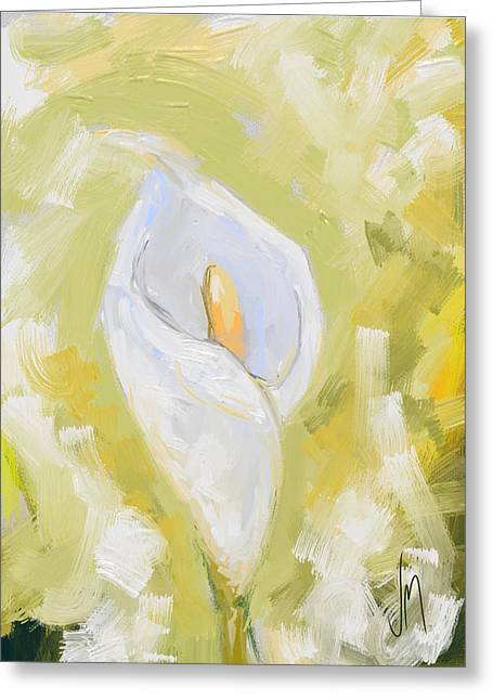 Abstract Calla Lily Greeting Card by Veronica Minozzi