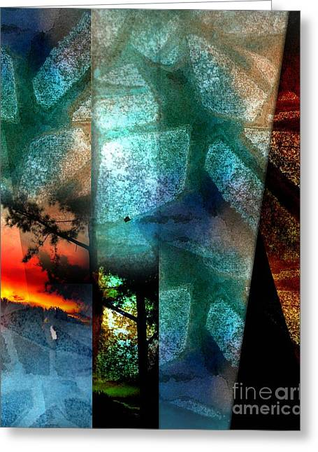 Abstract Calling Greeting Card
