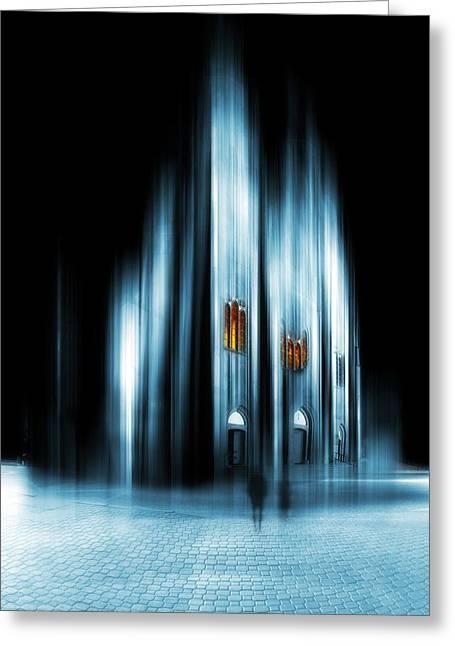 Abstract Cathedral Greeting Card by Jaroslaw Grudzinski