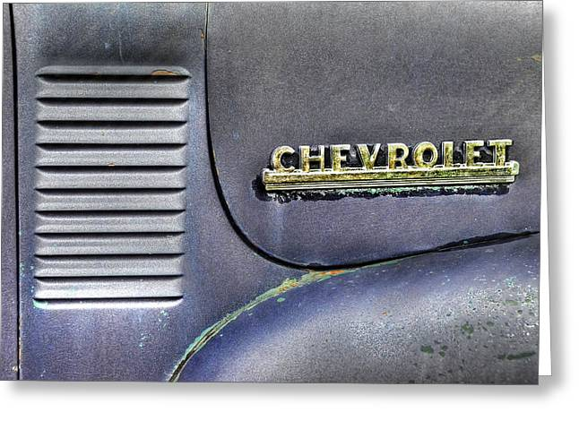 Abstract Chevrolet Lines Greeting Card by Ken Smith