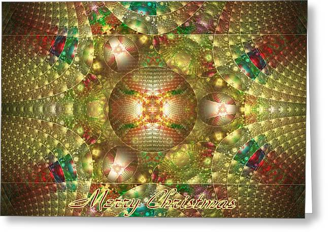 Abstract Christmas Card Greeting Card by Sandy Keeton