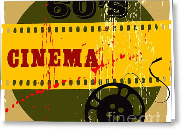 Abstract Cinema Poster Greeting Card