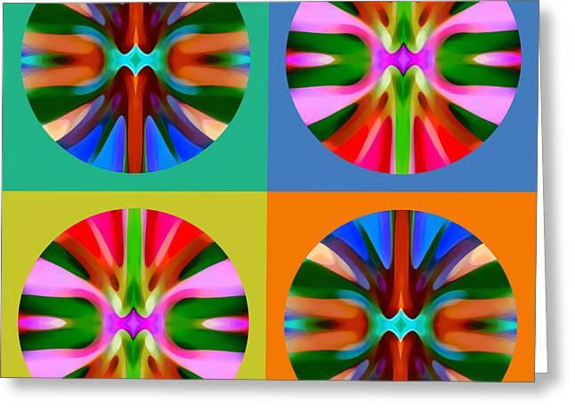 Abstract Circles And Squares 4 Greeting Card by Amy Vangsgard