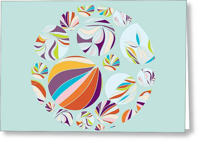 Abstract Circles Background -  With Greeting Card