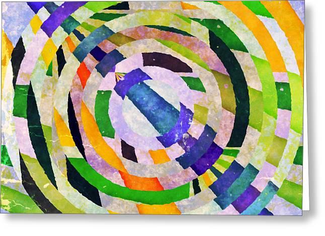 Abstract Circles Greeting Card by Susan Leggett