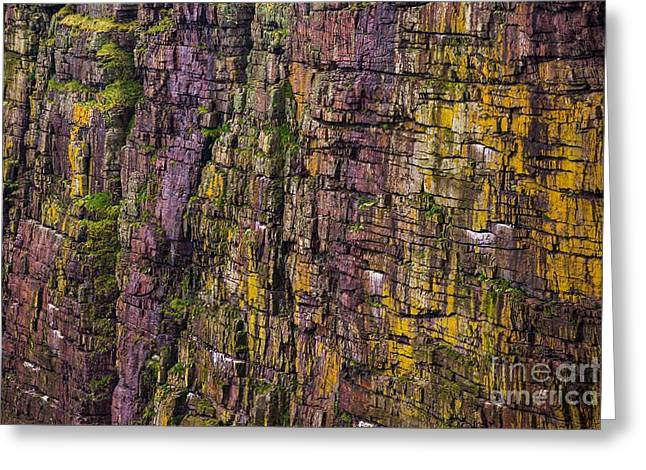 Abstract Cliffs Greeting Card