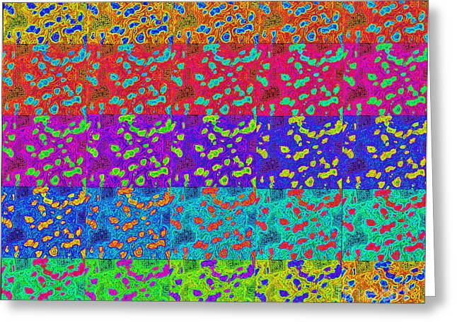 Abstract Colorful Art Print No.318. Greeting Card by Drinka Mercep