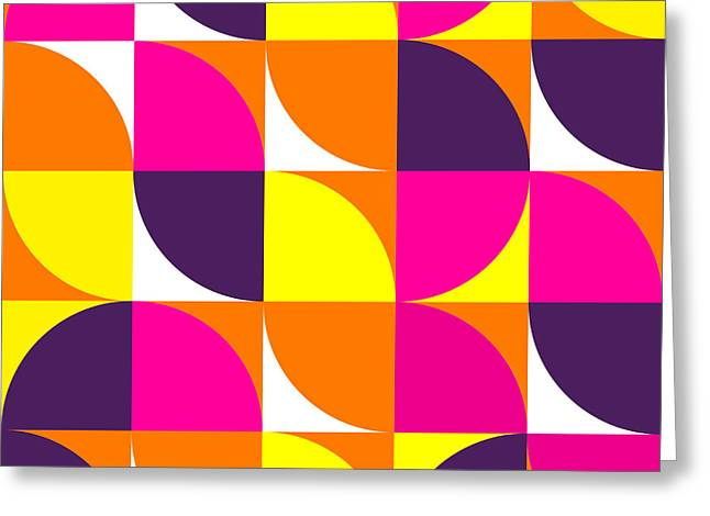 Abstract Colorful Geometric Shapes Greeting Card