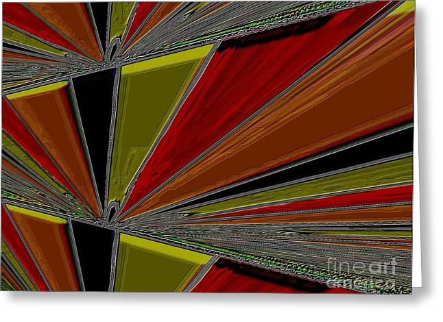 Abstract Colors Greeting Card by Marsha Heiken
