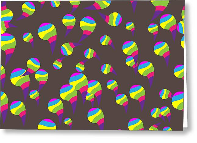 Abstract Colors Seamless Background Greeting Card