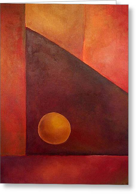 Abstract Composition Greeting Card by Kim Cyprian