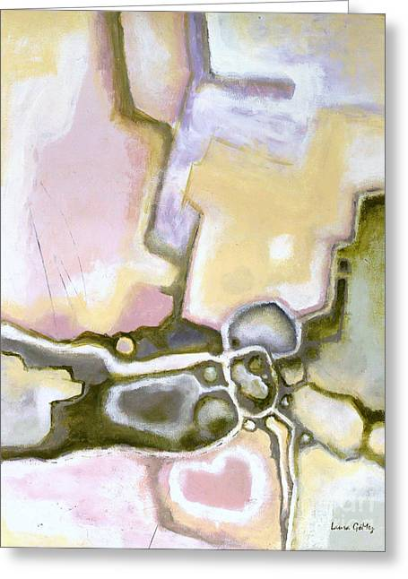 Abstract Contemporary Modern Art By Laura Gomez - Pastel Neutral Cloros Tones Greeting Card by Laura  Gomez