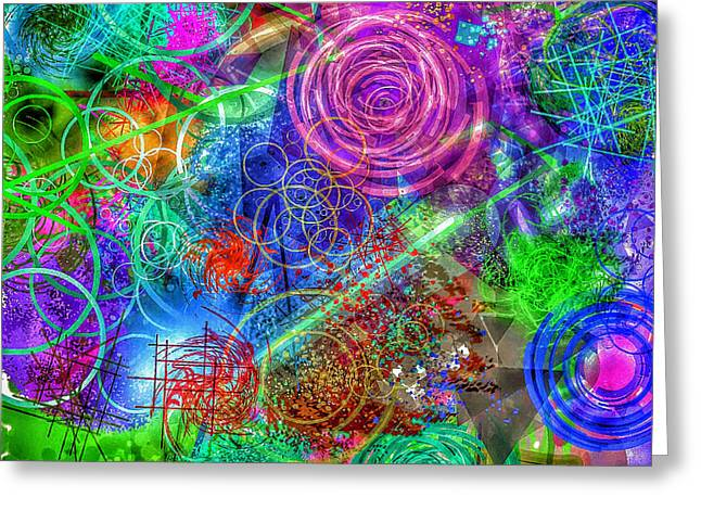 Abstract Crazy 1 Greeting Card by Yury Malkov