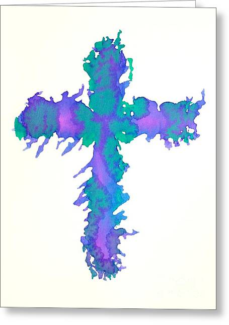 Abstract Cross Greeting Card by Pattie Calfy