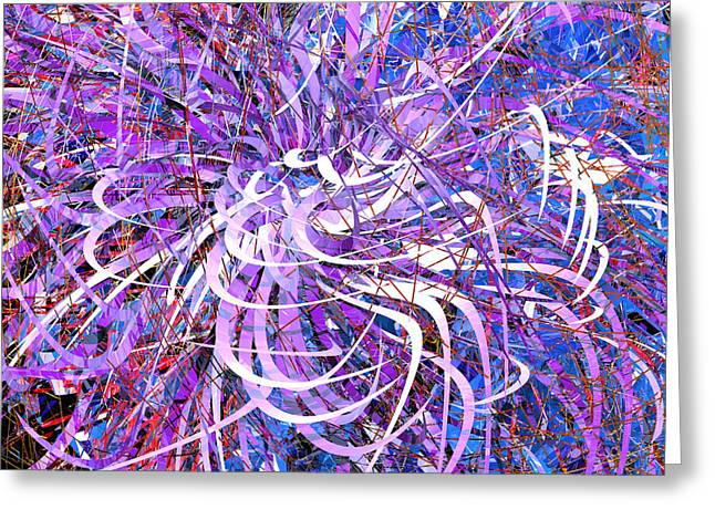 Abstract Curvy 32 Greeting Card