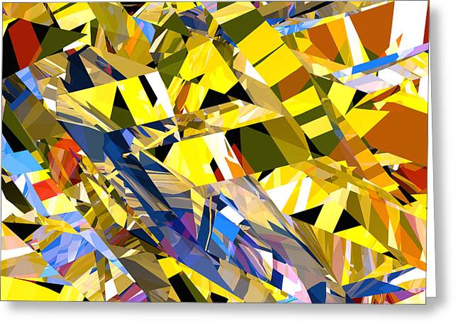 Abstract Curvy 34 Greeting Card