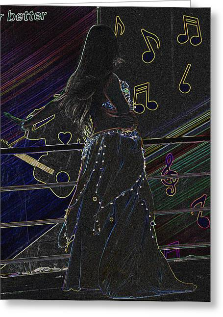 Abstract Dancer Greeting Card