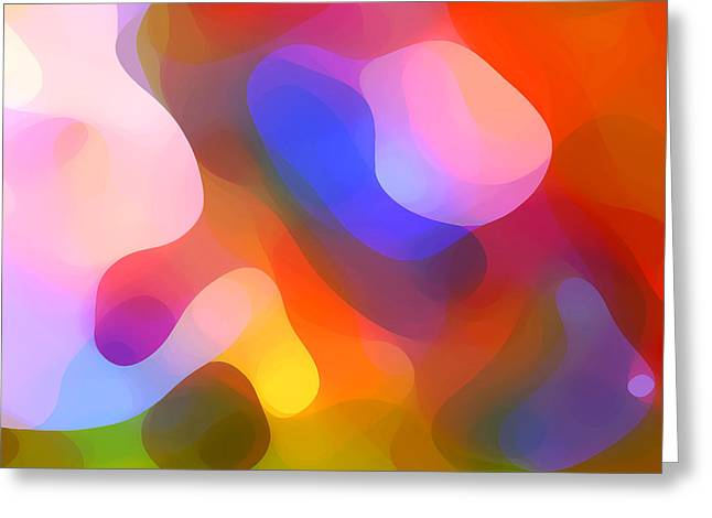 Abstract Dappled Sunlight Greeting Card by Amy Vangsgard
