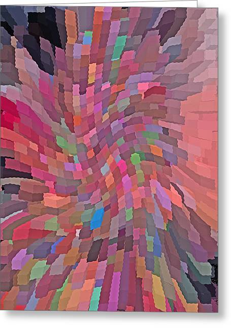 Abstract  Digital  Art Greeting Card by Carl Deaville